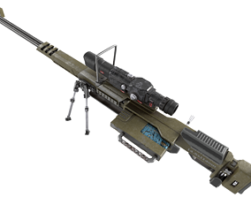 Weapon hard surface machine gun 3D model