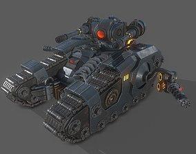 sci fi tank 3D model game-ready