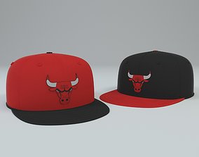 3D model Chicago Bulls Baseball Cap