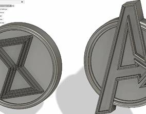 3D print model Avengers and black widow logos
