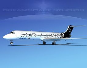 3D model Boeing 717-200 Star Alliance