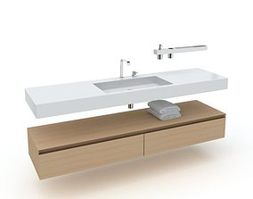 bathroom furniture set 04 AM56 3D