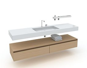 bathroom furniture set 04 AM56 3D