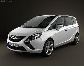 3D Opel Zafira Tourer 2012