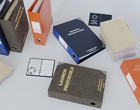 Military Binders and Files 3D model