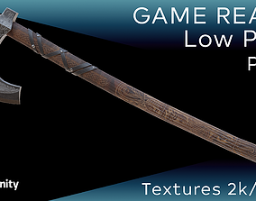 Old norse axe-Lowpoly-PBR-Gameready 3D model