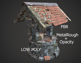 3D asset game-ready Ruined old Draw-well