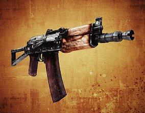 AKS-74U Assault Rifle 3D asset