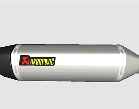 3D asset Ponteira Akrapovic Silinder Only