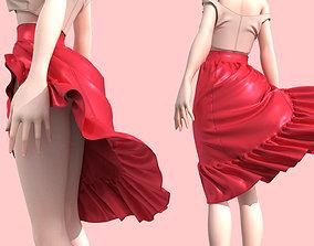character 3D model Skirt wrap