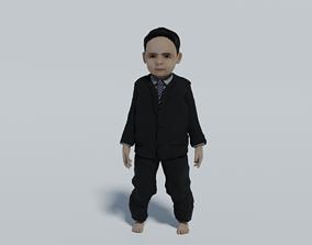 a child in a suit 3D asset