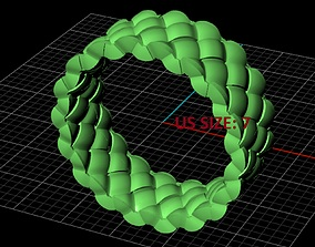 size7 3D print model Braided ring
