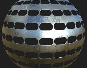Cutout metal plate 08 3D