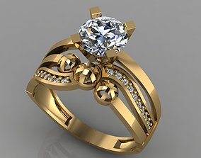 3D print model GC GOLD TW0160- Diamond ring