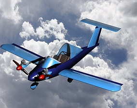 Cri-Cri ultralight aircraft 3D model