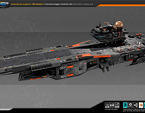 3D asset SF Federation Supercarrier GB4