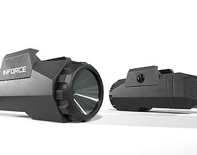 Inforce APL Handgun Weapon Mounted Light 3D asset