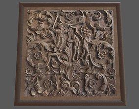Wood Carving 3D asset