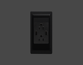 3D asset Low Poly Electricity outlet - Game Ready