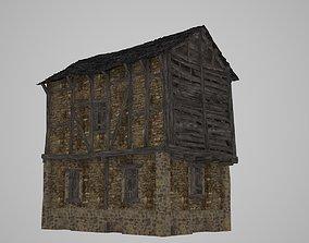 A dilapidated wooden house 3D asset