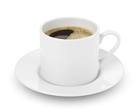 Cup with coffee 3D model