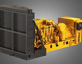 3512 Engine - V12 Diesel Generator Engine 3D