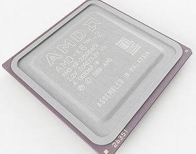 3D model AMD K6-2 CPU