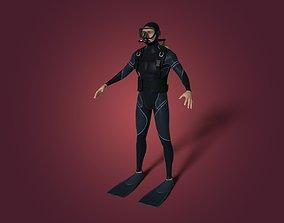 Scuba Diver 3D asset