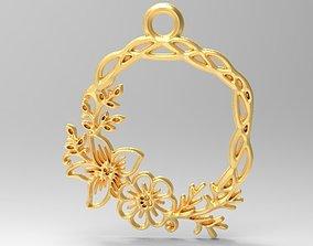 3D printable model Flower pendant 1