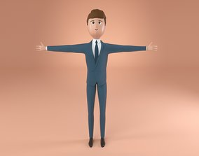 3D Man in Suit Character