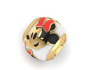happy minnie mouse charm ball 3D print model