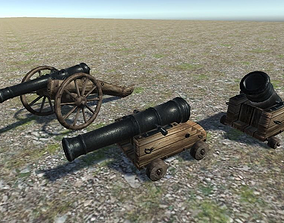 Cannons Pack 3D asset