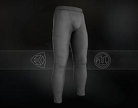 Gray Skinny Medieval Pants 3D model realtime
