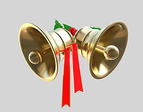 Xmas bells 3D model game-ready