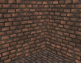 5 Tileable Brick Wall type A 3D model