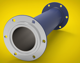 3D Welded tube with flange