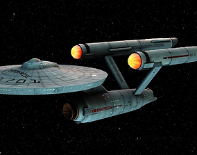 Starship Enterprise 3D model low-poly