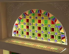 Qamaria stained glasses windows - Yemen 3D model