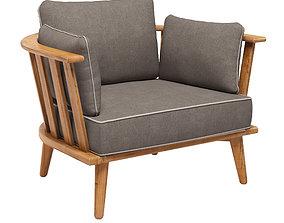 NOUMEA Garden armchair 3D