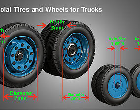 3D model Special Heavy Duty Truck Tires and