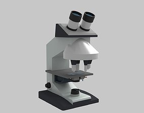 Compound Microscope 3D model low-poly