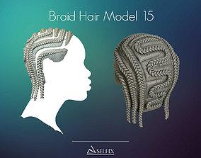 3D print model Braid Hairstyle 15