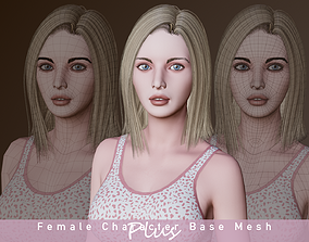 3D model rigged Female Character Base Mesh Plus VER001