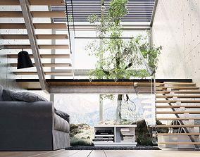 3D model realtime Industrial Loft Interior Showcase 2017
