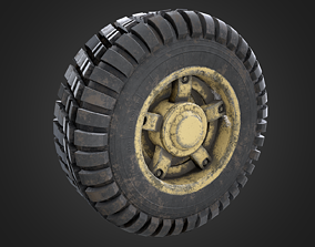Dirty wheel 3D model