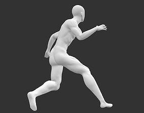 basketball dribble man mannequin 3d print model
