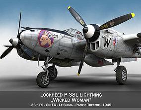 3D model Lockheed P-38 Lightning - Wicked Woman
