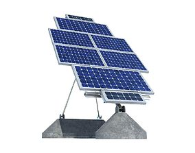 3D model Solar Panel Farm High Detaile