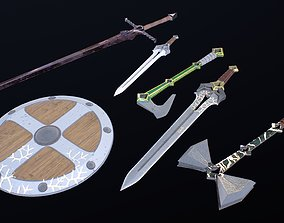 Weapons of the middle ages 3D model