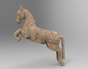 3D model Sculpture of horse